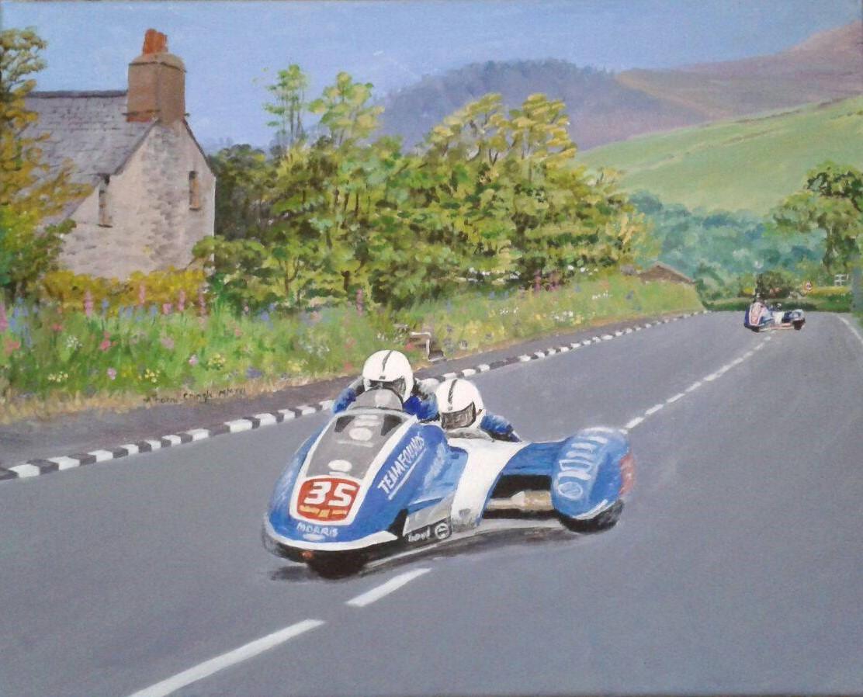 Silent Auction of Midge Cringle TT Painting